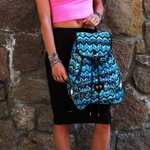 NEW VS Pink RARE Turquoise Tie Dye Backpack